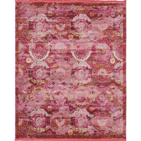 4 x 8 area rugs unique loom pink 8 ft 4 in x 10 ft area rug 3140162 the home depot