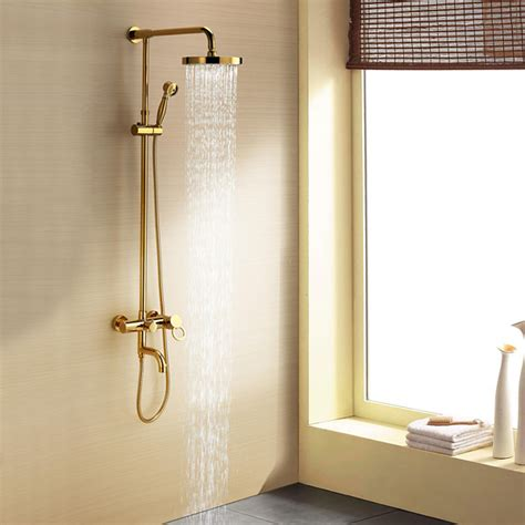 Average Width Of A Bathtub Ti Pvd Wall Mount Rain Handheld Shower Faucet At