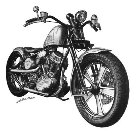 Motorrad Chopper Zeichnung by Harley Davidson Motorcycle Artsy Fartsy Pinterest