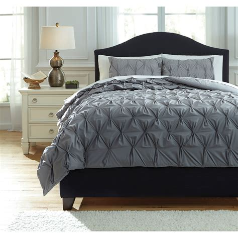 ashley signature design bedding sets queen rimy gray