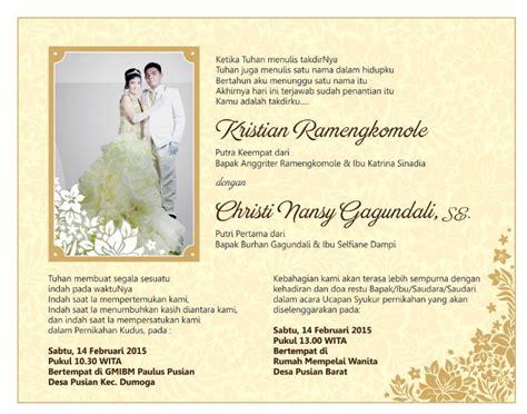 contoh surat undangan pernikahan kristen undangan terbaru