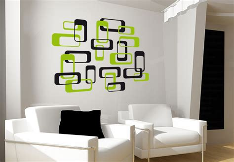 green wall stickers retro boxes green wall sticker wall
