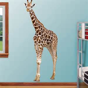 giraffe wall sticker fathead giraffe wall graphic