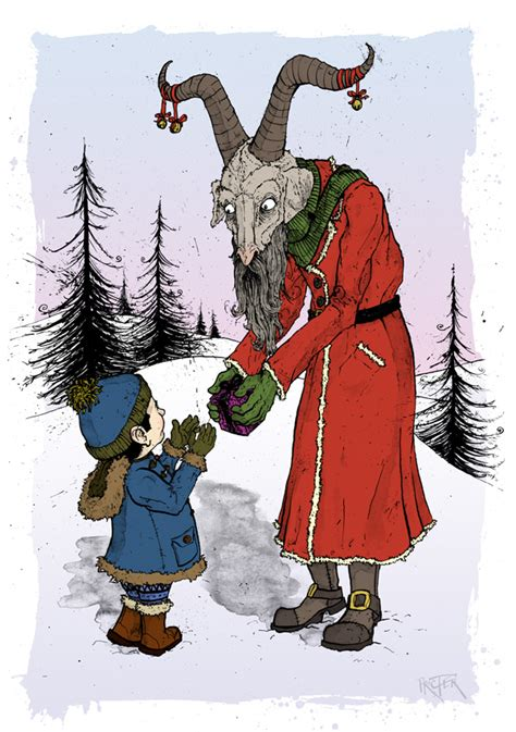 Delightful St Nicholas Christmas Trees #5: Yule-goat-julbocken-christmas-illustration-illustrator-david-procter.jpg