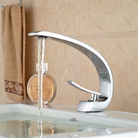 unique design deck mount full brass bathroom basin faucet