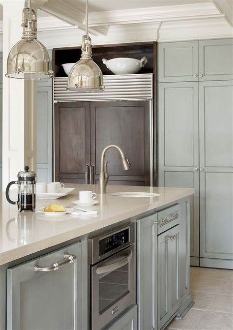 gray blue kitchen cabinets greige interior design ideas and inspiration for the