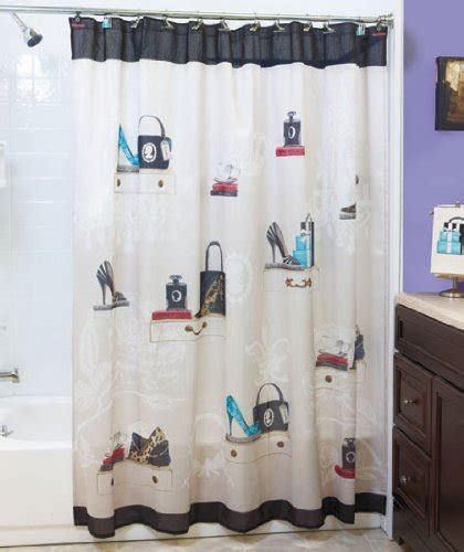 old hollywood shower curtain fashionista glam old hollywood paris couture shoes purse