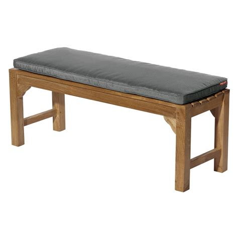 garden bench with cushion mojo 116 x 48cm grey outdoor bench cushion bunnings