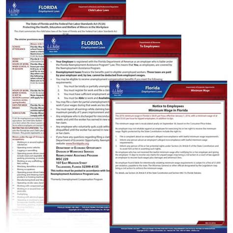florida service laws florida federal electronic labor poster management service