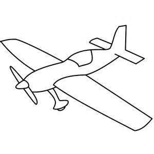 Basic Airplane With Propeller  Coloring Page Transportation sketch template