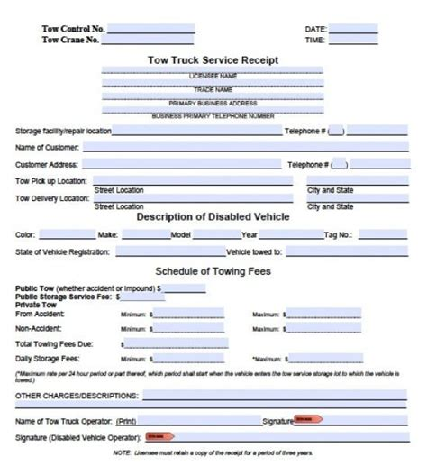 towing invoice forms joy studio design gallery best design