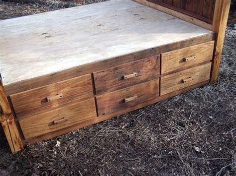 Rustic Platform Bed With Drawers by Buy A Made 12 Drawer Rustic Reclaimed Wood Platform