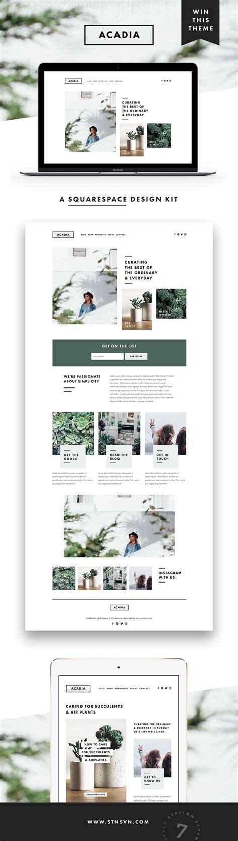 magazine layout squarespace website design modern minimal squarespace design