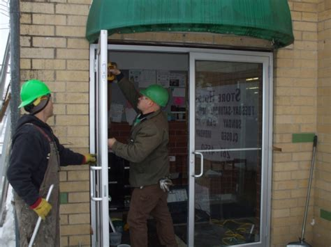 Commercial Glass Repair And Aluminum Service For Des Commercial Glass Door Replacement