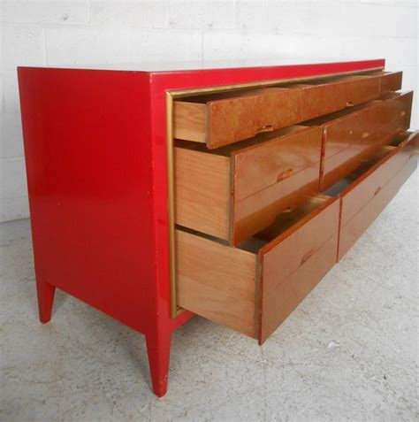 unique dressers and chests unique mid century modern lane style red and gold dresser