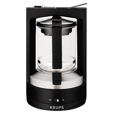krups coffee maker krups 174 moka brew 174 10 cup coffee maker bed bath beyond