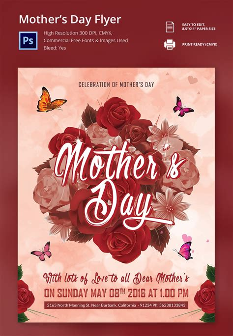17 Beautiful Mother S Day Flyer Templates Designs Free Premium Templates Day Flyer Template Free