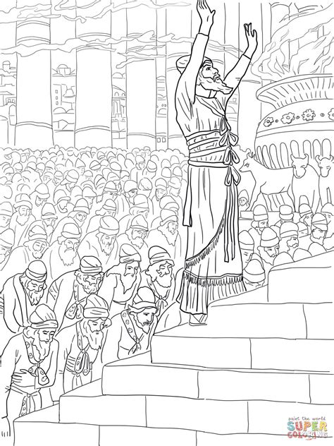 king solomon s temple old testament coloring pages bible printables solomon prayer in the temple coloring page free