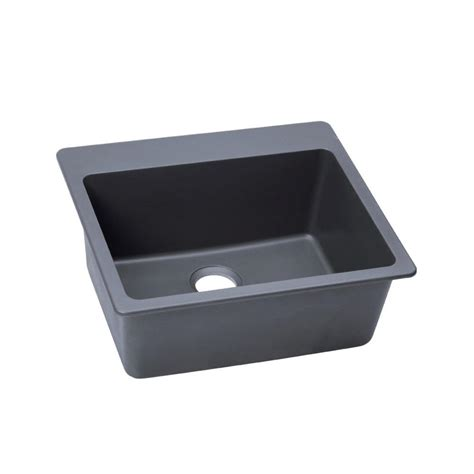 Composite Undermount Kitchen Sinks Elkay Quartz Classic Undermount Composite 25 In Single Bowl Kitchen Sink In Bisque Elgu2522bq0