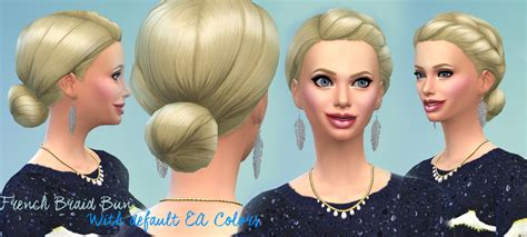 sims 4 bun braids sims 4 hairs mod the sims mekka french braid