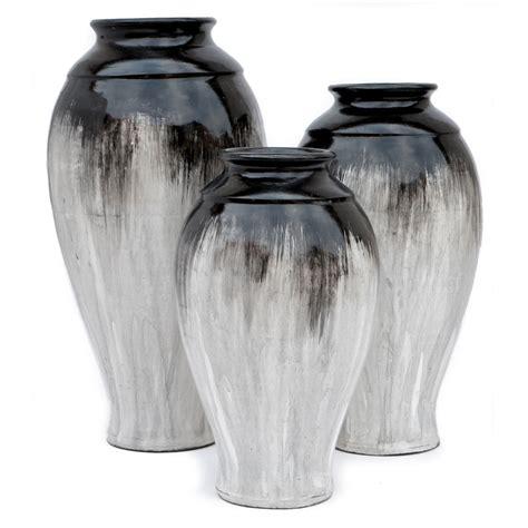 White Vase Set by Margarita Black White Vases Set Of 3