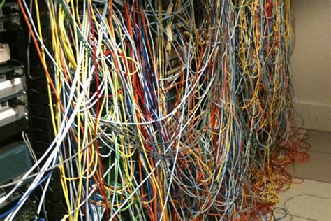 messy wires organized cabling is better cabling avoid server room