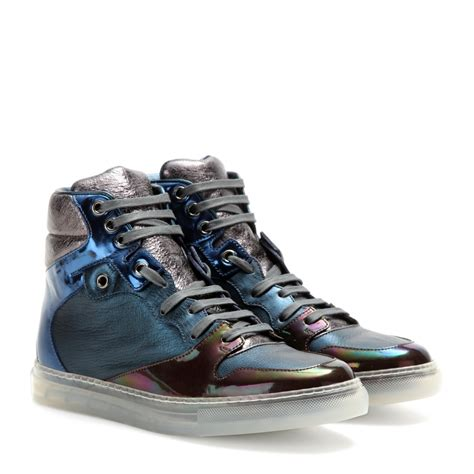 balenciaga s sneakers balenciaga leather high top sneakers lyst