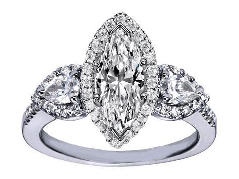 engagement ring marquise halo engagement ring