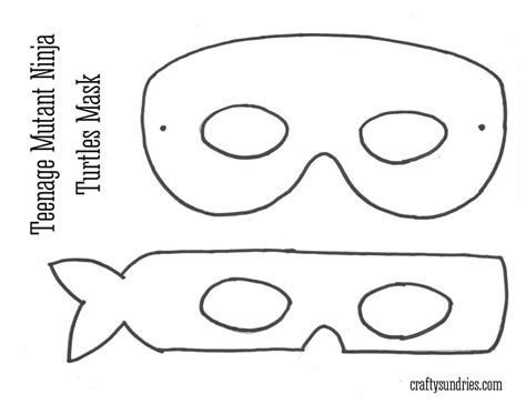 pattern for ninja turtle mask pinterest the world s catalog of ideas