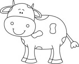 color sweet animals a grayscale coloring book books cow clipart black and white 2 clipartbarn