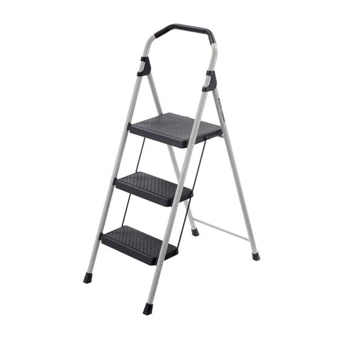 3 Step Stool With Handle by Xtend Climb Ultra 3 Step Light Weight Aluminum Stool
