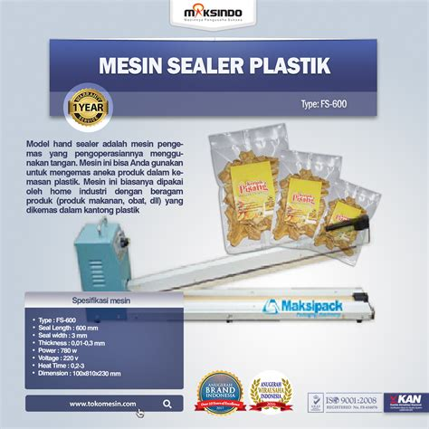 Jual Mesin Pemipil Jagung Di Medan mesin sealer plastik fs 600 toko mesin maksindo bandung