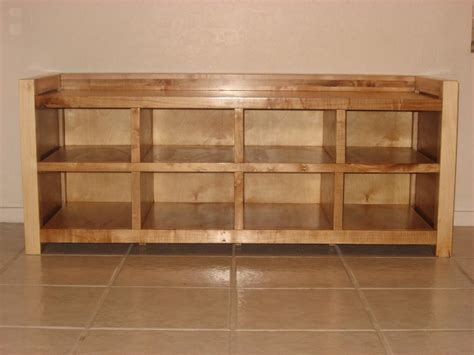 real wood shoe cabinet diy shoe rack 6 shelves with bench for entryway decofurnish