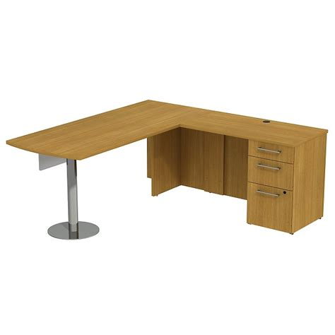 S Shaped Desk by Bush Business Furniture Realize Series Peninsula L Shaped