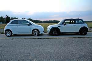 Mini Cooper S Vs Fiat 500 Abarth Comparison 2012 Fiat 500 Abarth Vs 2012 Mini Cooper S