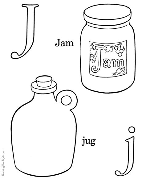 coloring pages that start with the letter j alphabet coloring pages letter j 014