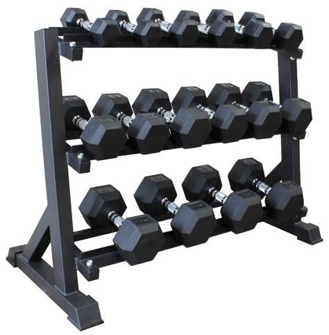 Dumbell 1 Set Hex Dumbbell Set 2 5kg 20kg 8 Pairs