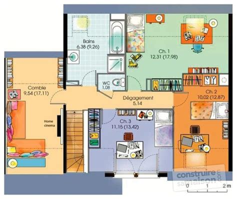 arri鑽e plan du bureau gratuit maison contemporaine 5 d 233 du plan de maison