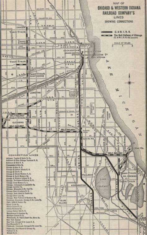 chicago map 1920 industrial history c wi chicago western indiana railroad