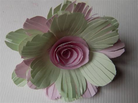 Paper Flower 3 a4 paper flower easy arts and crafts ideas