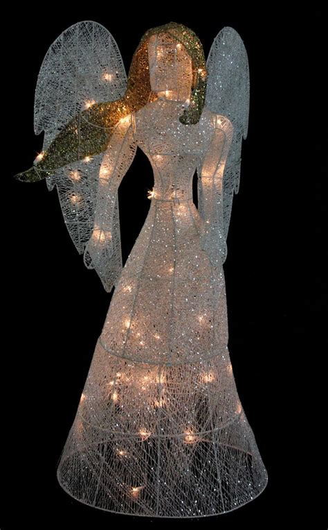 outdoor christmas angel lighted