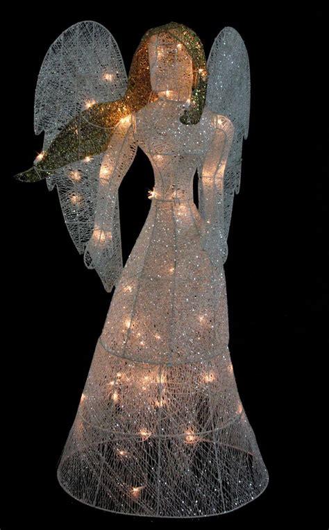 lighted angel outdoor christmas decorations lighted christmas angel yard decor decoratingspecial com