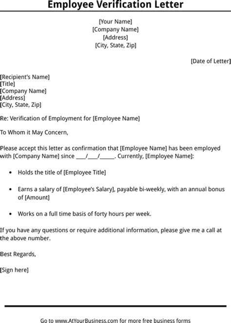 layout verification jobs employment verification letter template templates forms