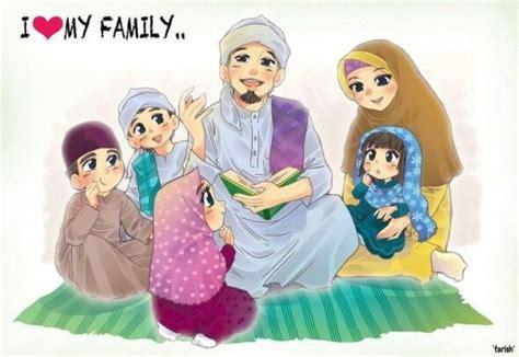 anime keluarga happy muslim family dream muslim spouse pinterest