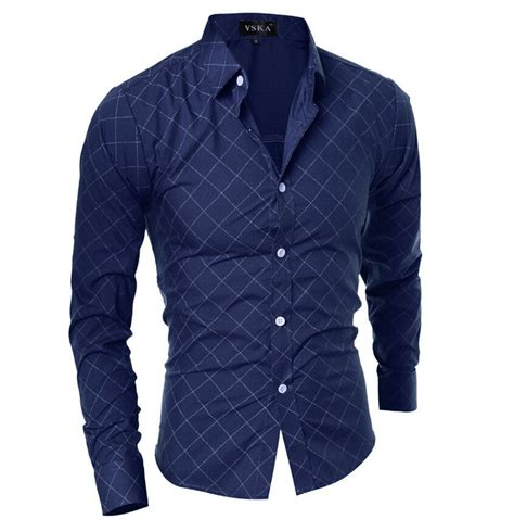 18164 Blue Grid Sale Shirt 2018 grid sleeve s button up shirt blue l in shirts store best