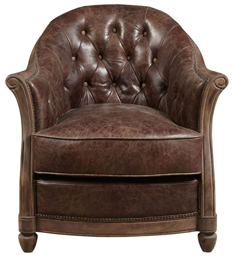 Brown Leather Accent Chair Andrew Brown Leather Accent Chair P006205 Pulaski