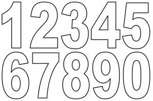 numbers 1 10 template printable printable numbers