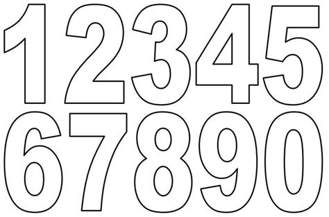 printable numbers template numbers 1 10 template printable printable numbers