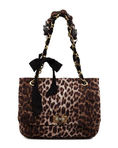 Leopard Print Shoulder Bag lanvin leopard print happy shoulder bag