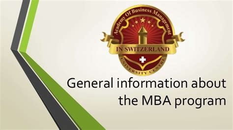 Tu Mba Syllabus by General Information About The Mba Program